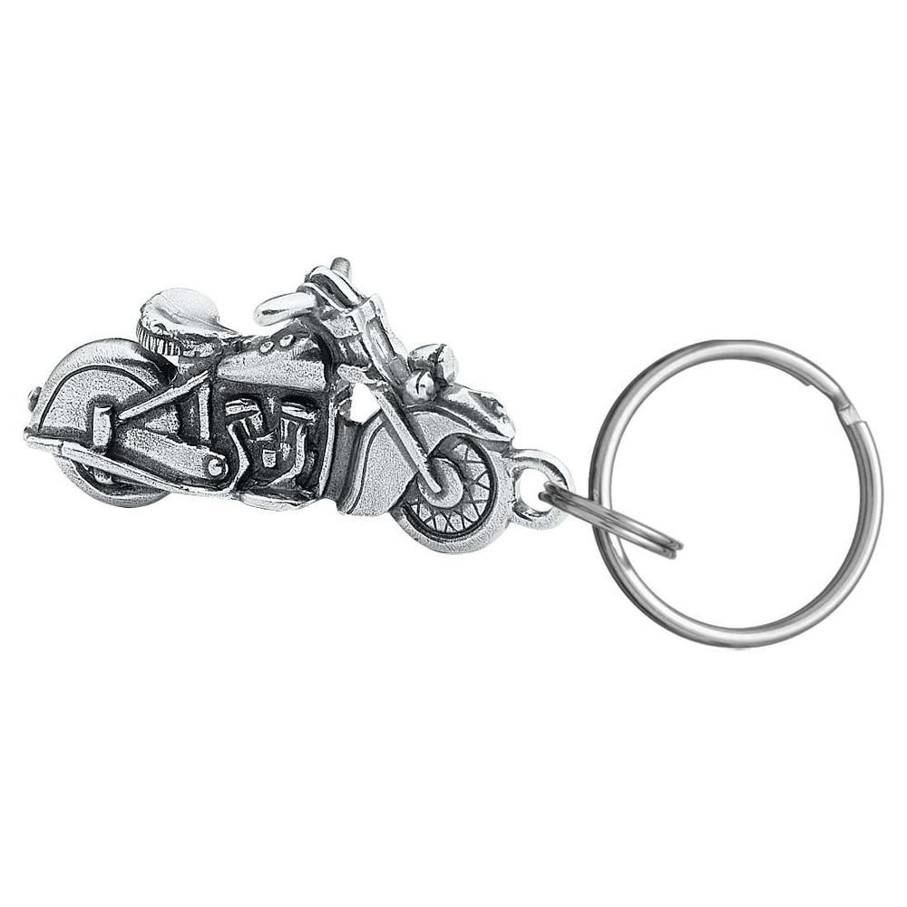 Vintage Motorcycle Pewter Key Ring