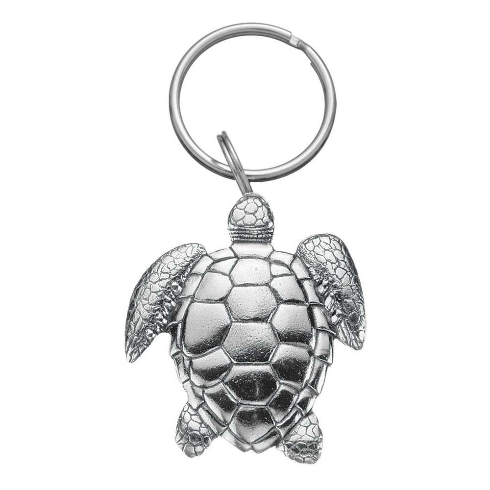 Sea Turtle Pewter Keyring