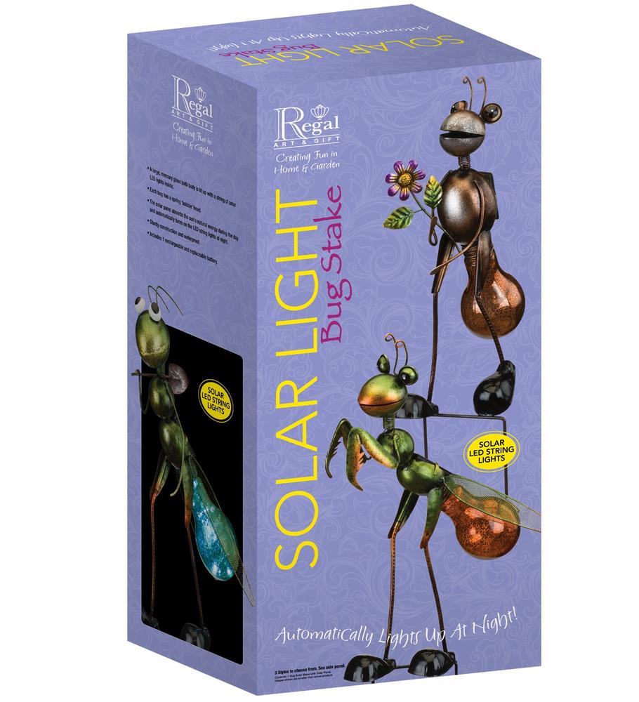 Bug Solar Stake - Praying Mantis