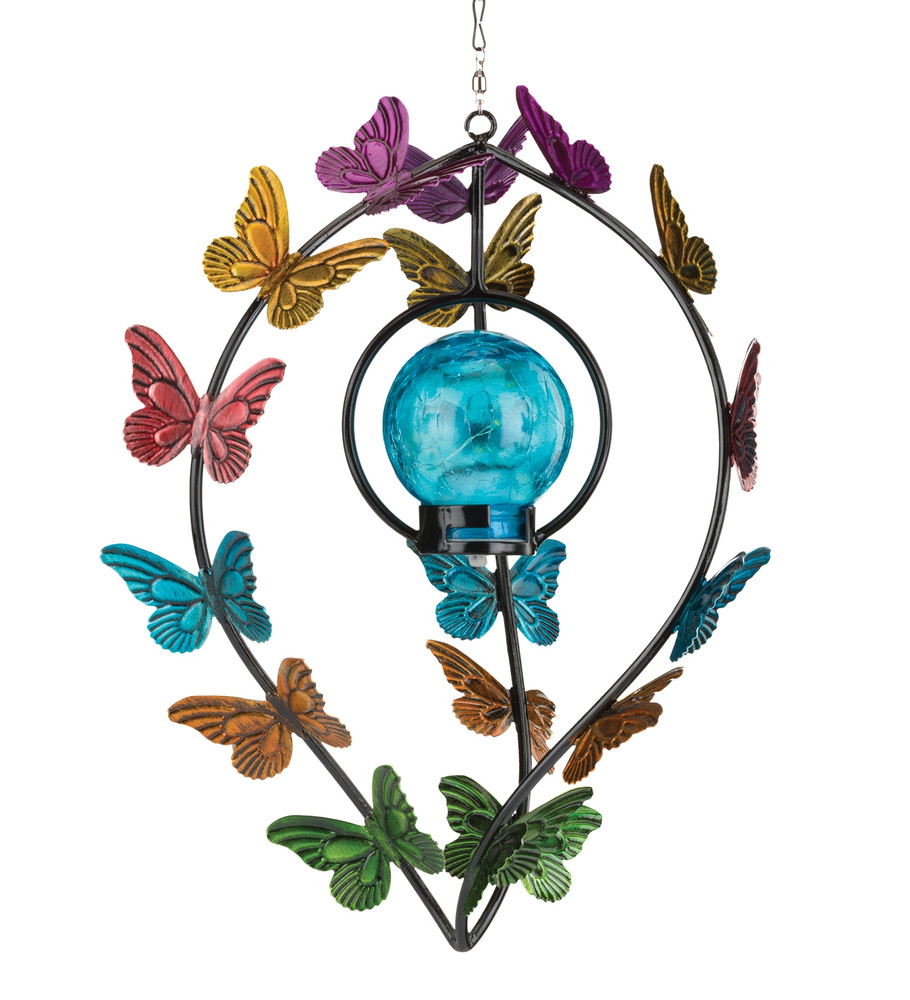 Hanging Solar Wind Spinner - Butterfly