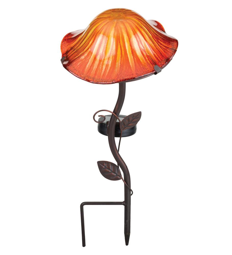 Lava Mushroom Solar Stake - Orange