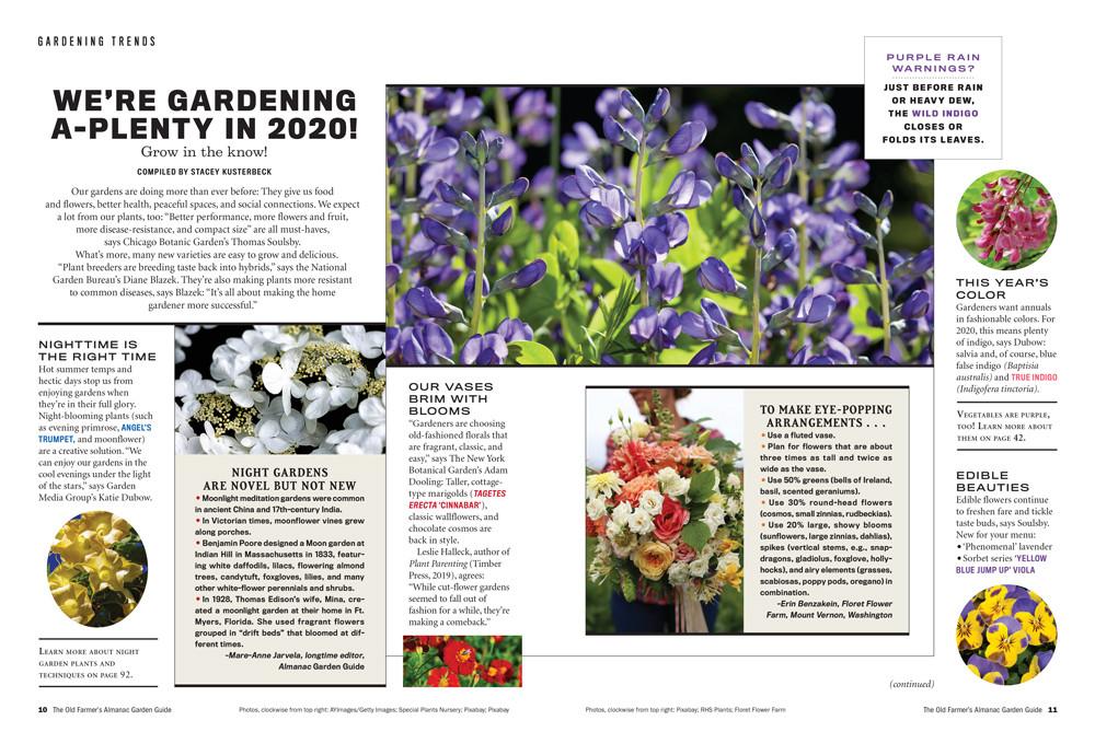 The Old Farmer's Almanac Garden Guide 2020 Print Edition
