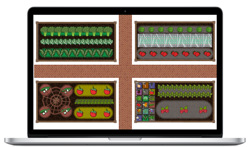 Garden Planner online tool for your PC or Mac