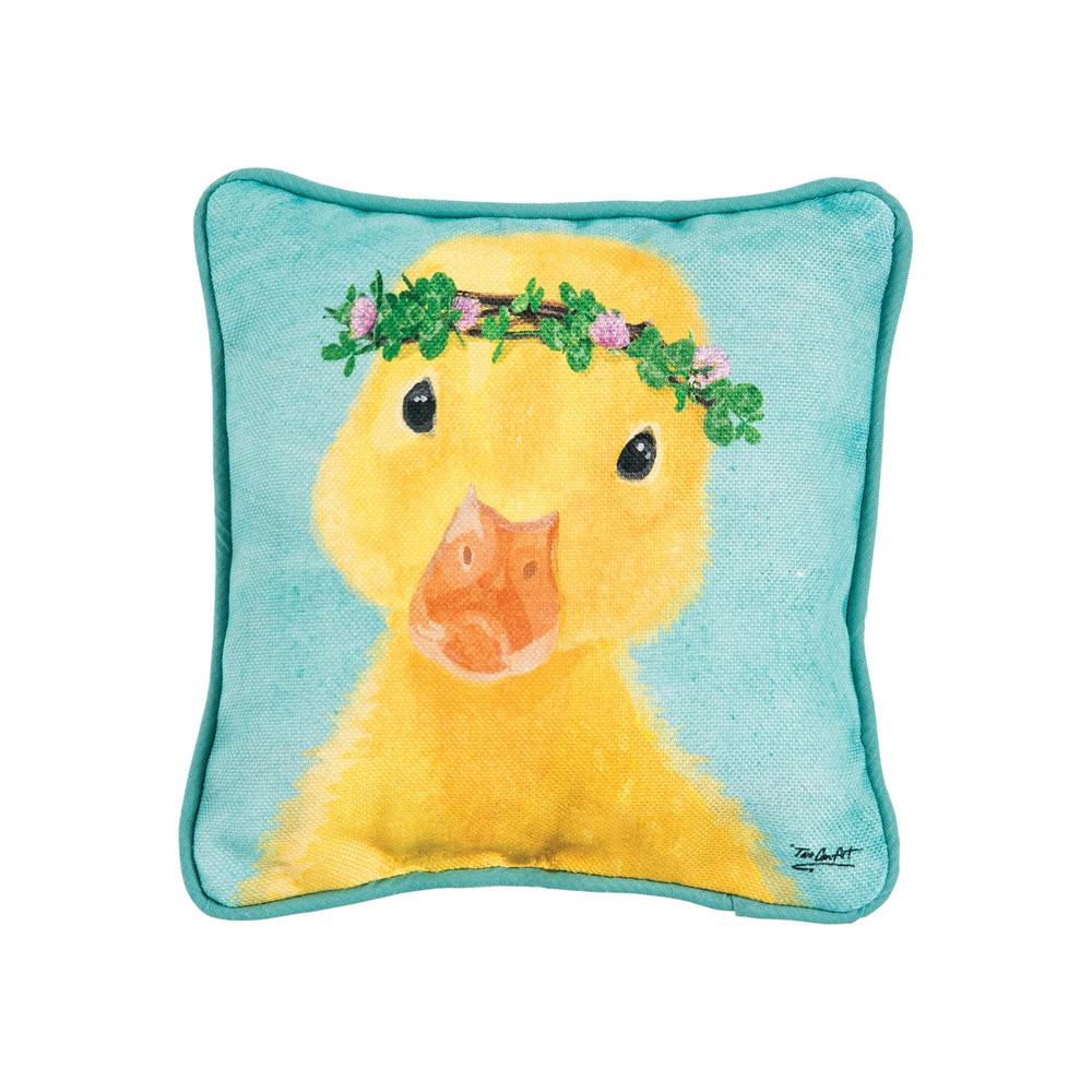 Clover Duckling Pillow