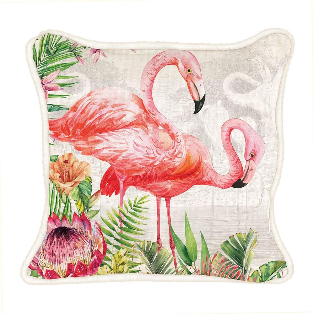 Flamingo Square Pillow