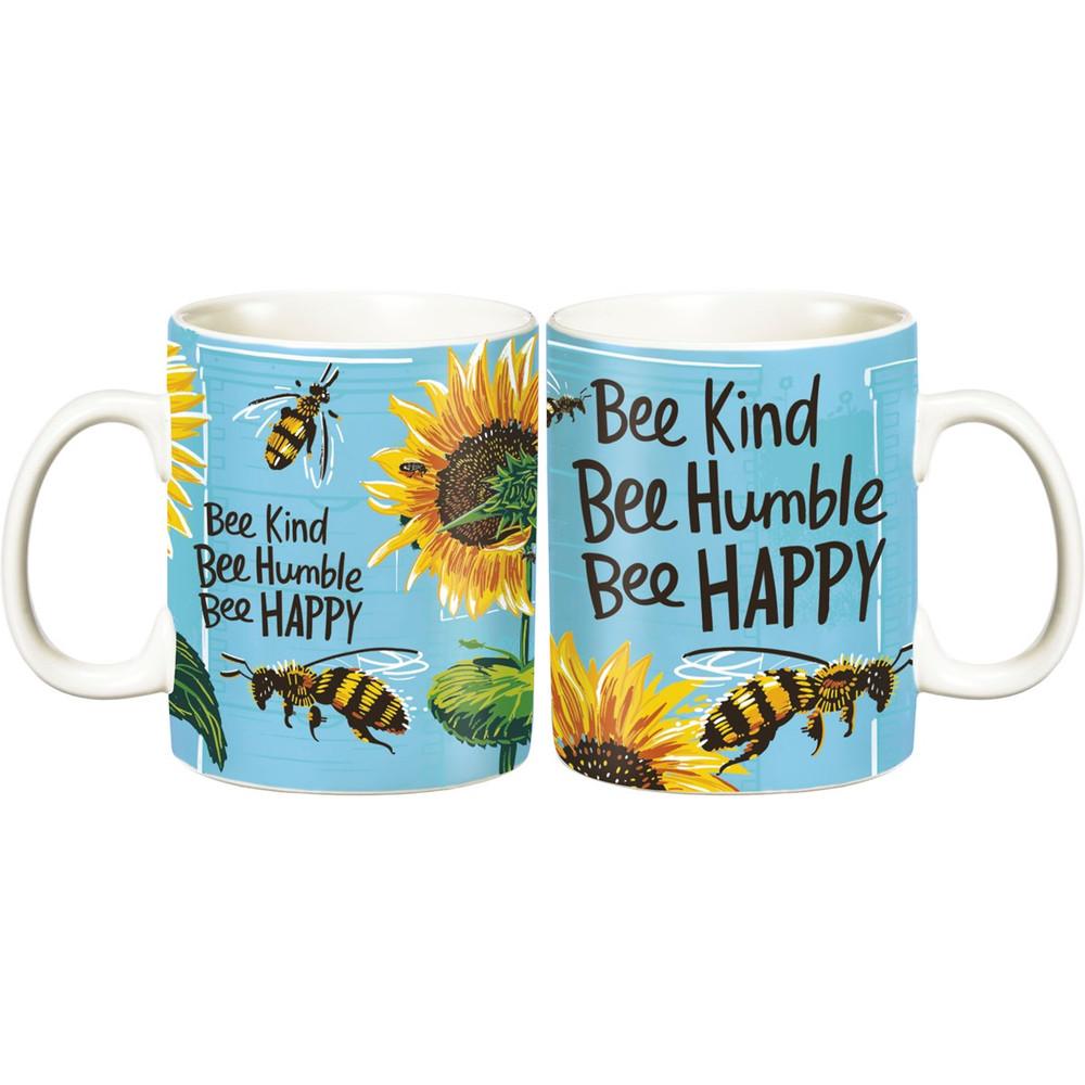Jumbo Mug - Bee Kind Bee Humble Bee Happy