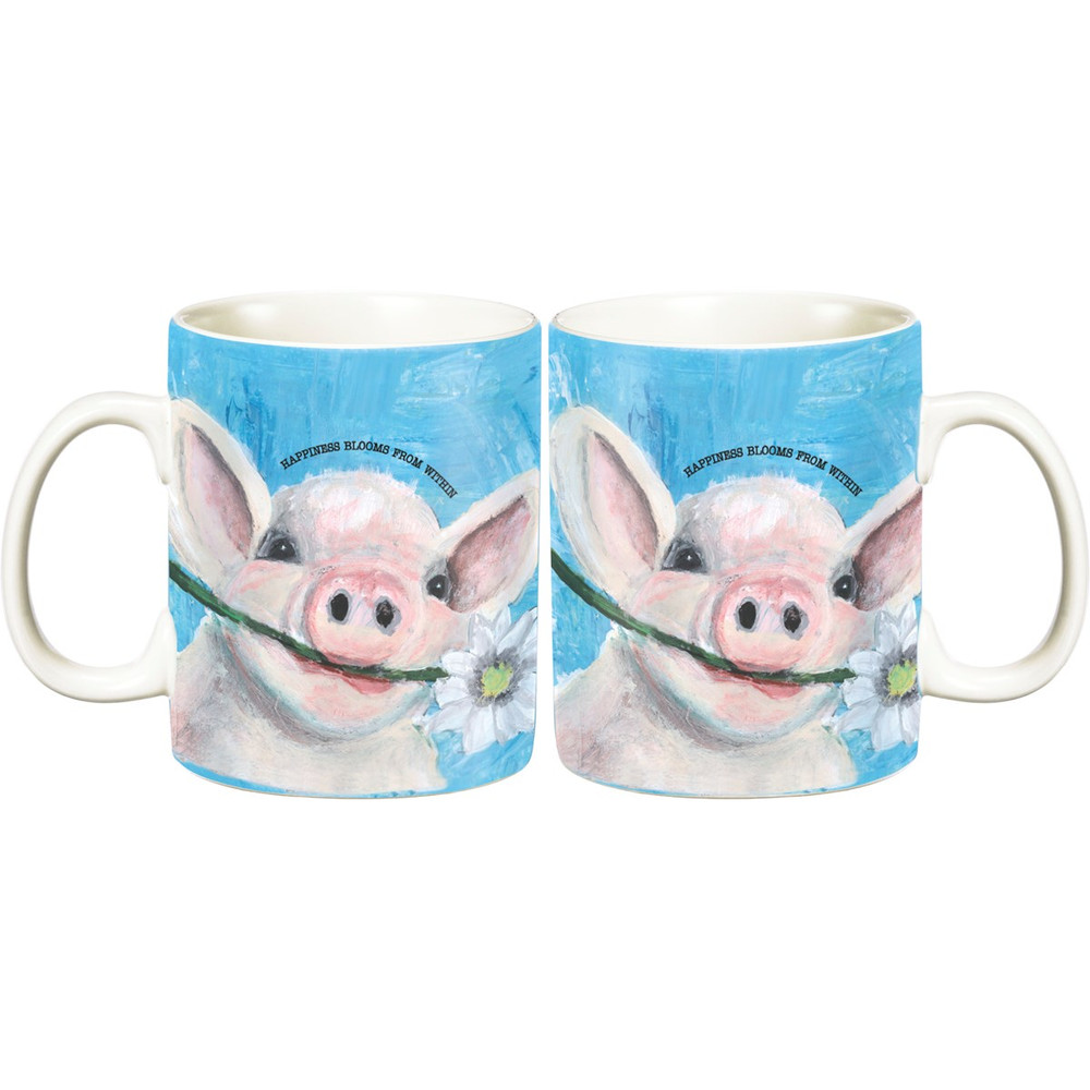 Jumbo Mug - Happiness Blooms From Within