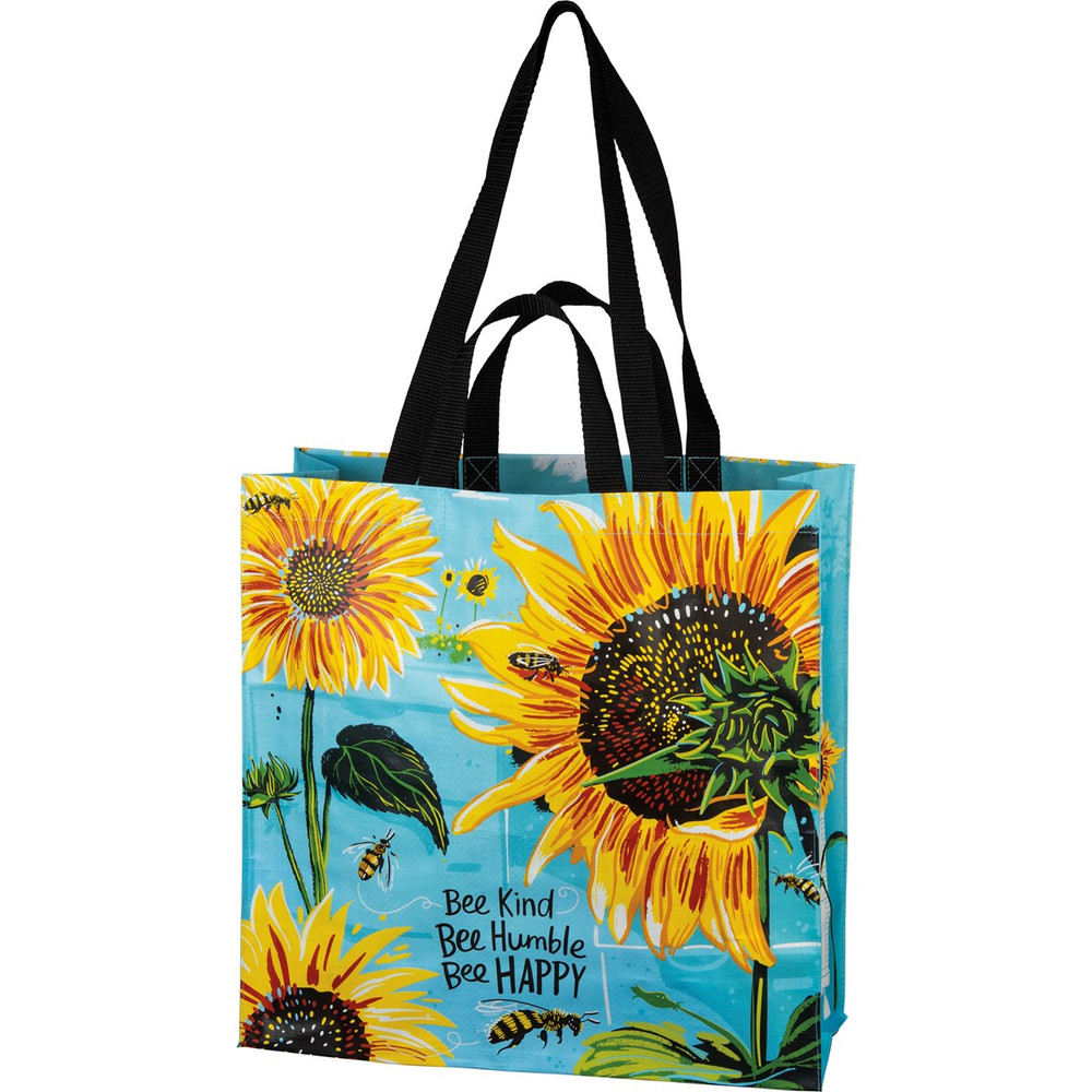 Market Tote - Bee Kind Bee Humble Bee Happy