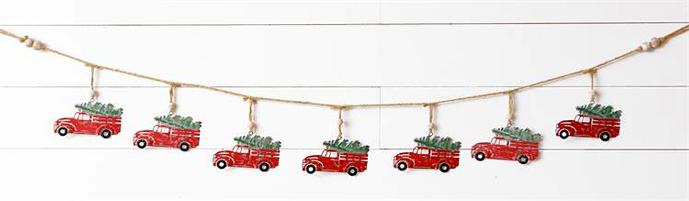 Garland - Metal Truck with Tree