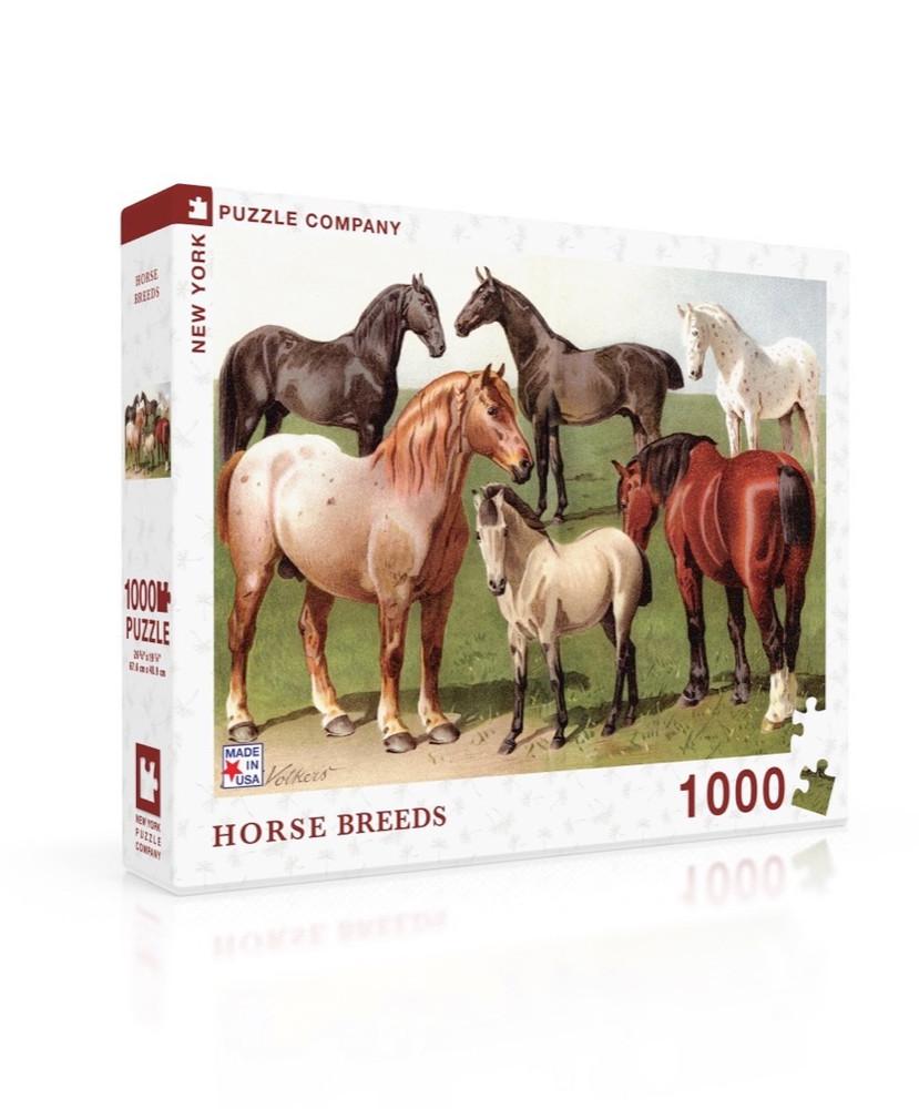 Horse Breeds Jigsaw Puzzle 1000 Piece