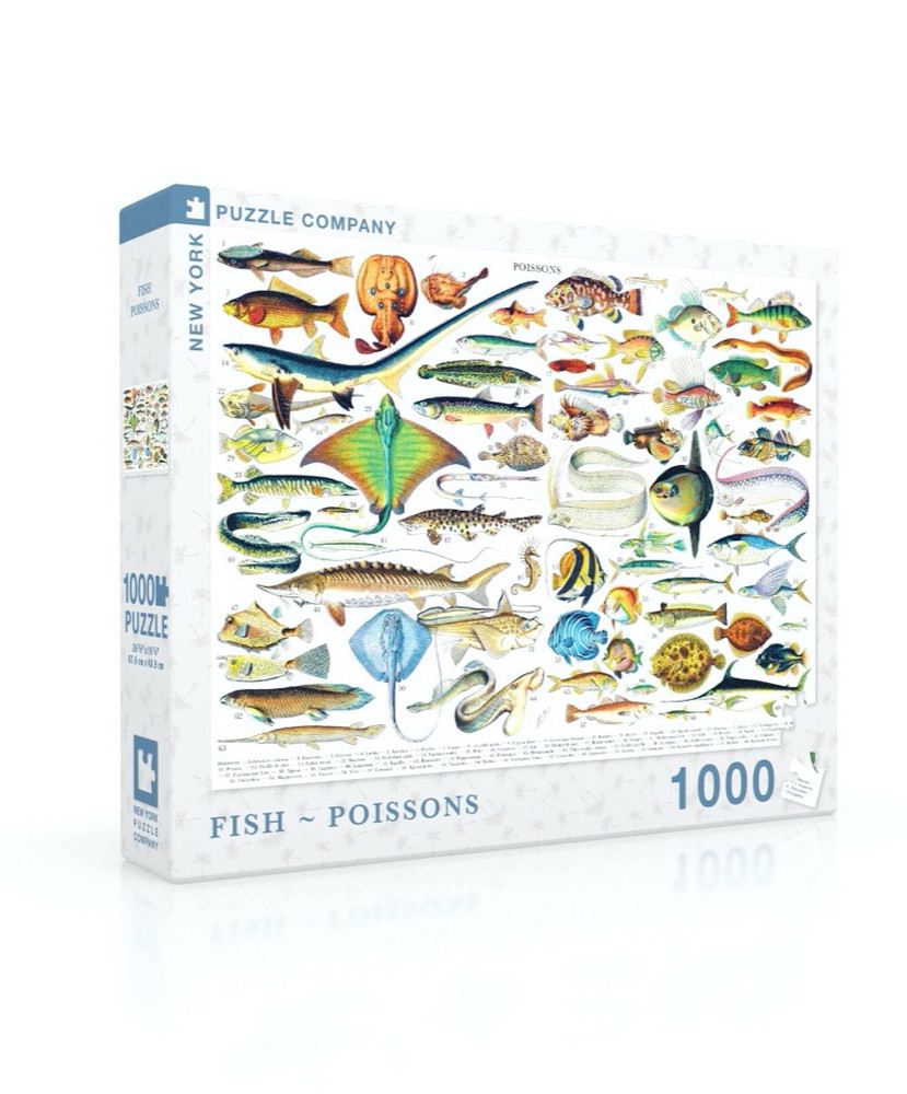 Fish ~ Poissons Jigsaw Puzzle 1000 Piece