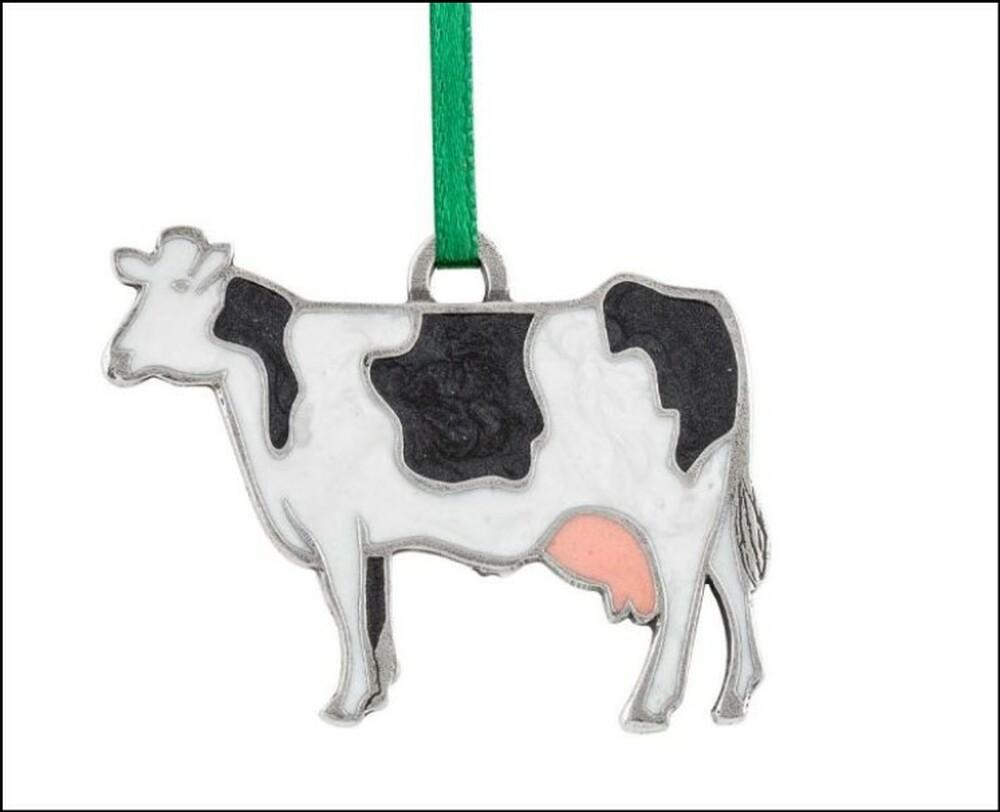 Holstein Cow Pewter Ornament