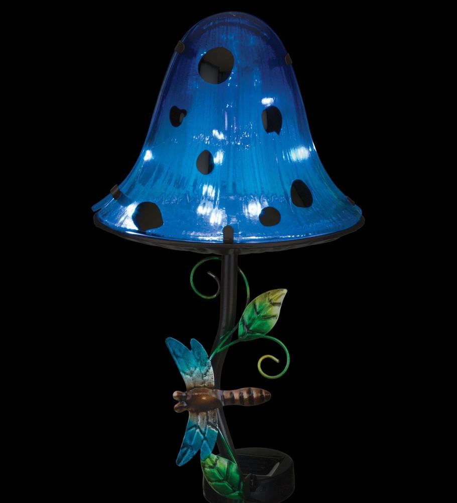 Dottie Mushroom Solar Stake - Blue