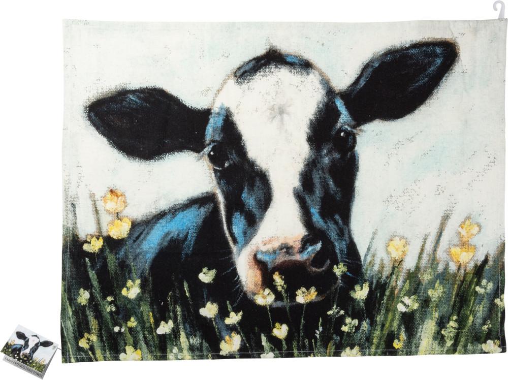 Dish Towel Cow