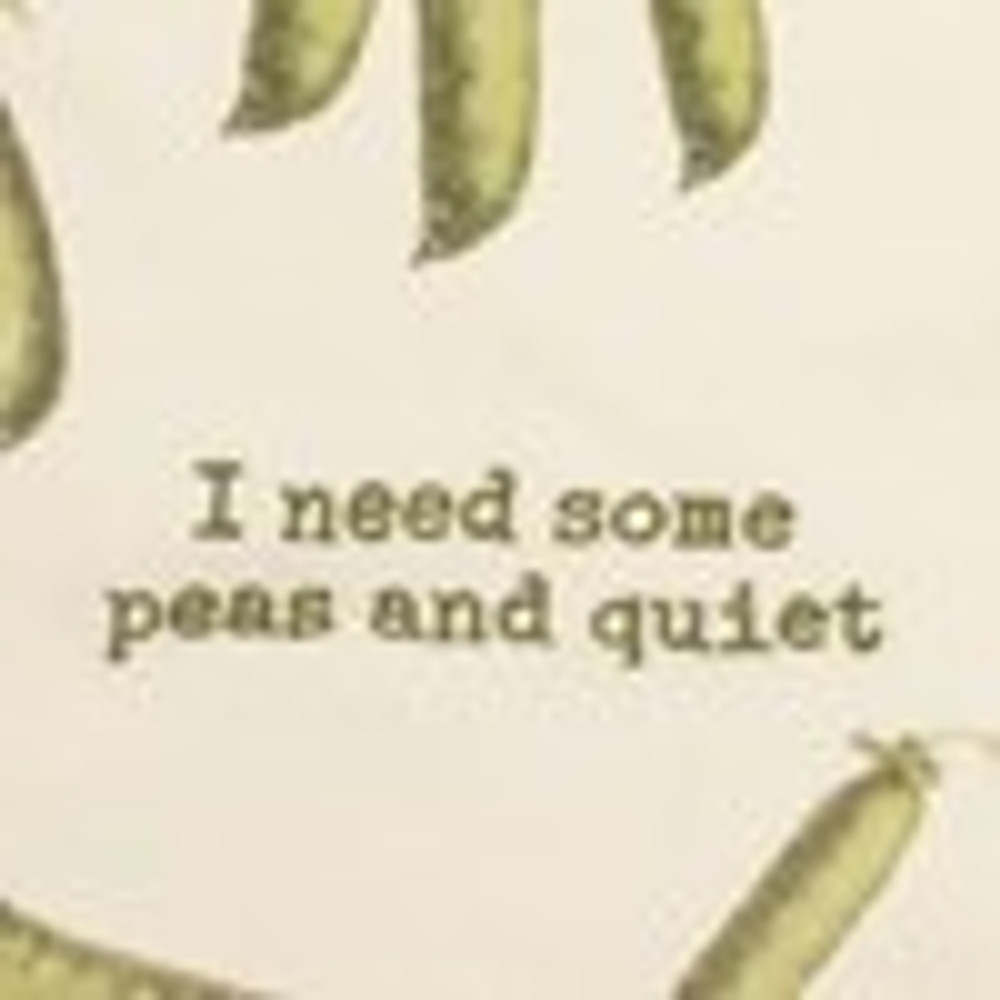 Dish Towel Peas and Quiet