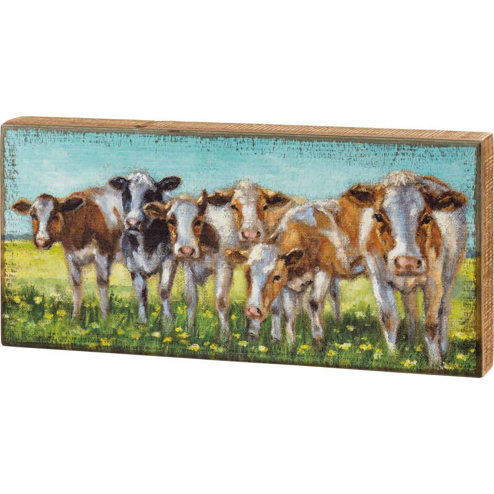 Box Sign - Cow Rows