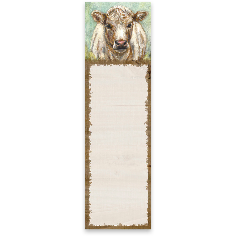 List Notepad - Shaggy Cow