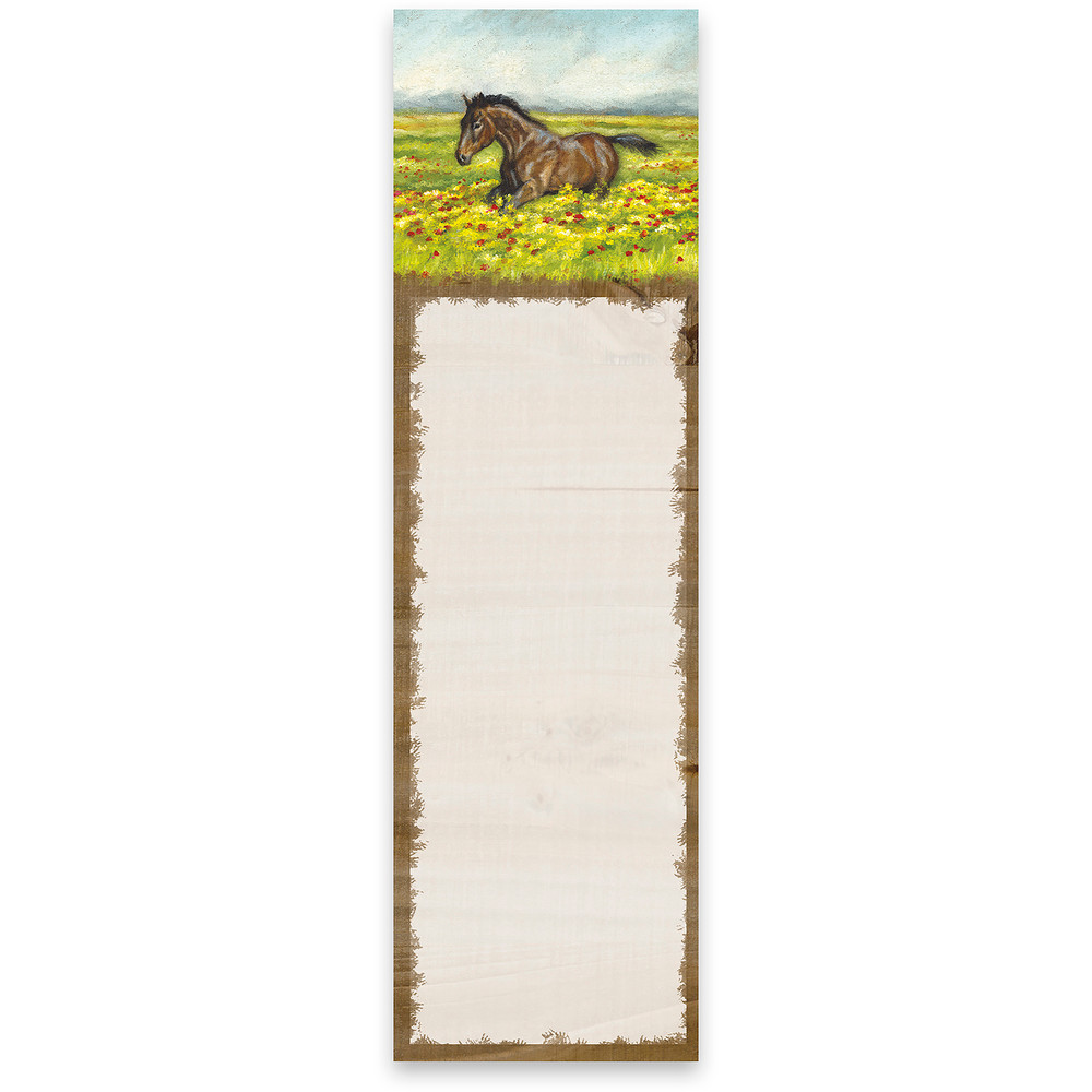 List Notepad - Horse in Field