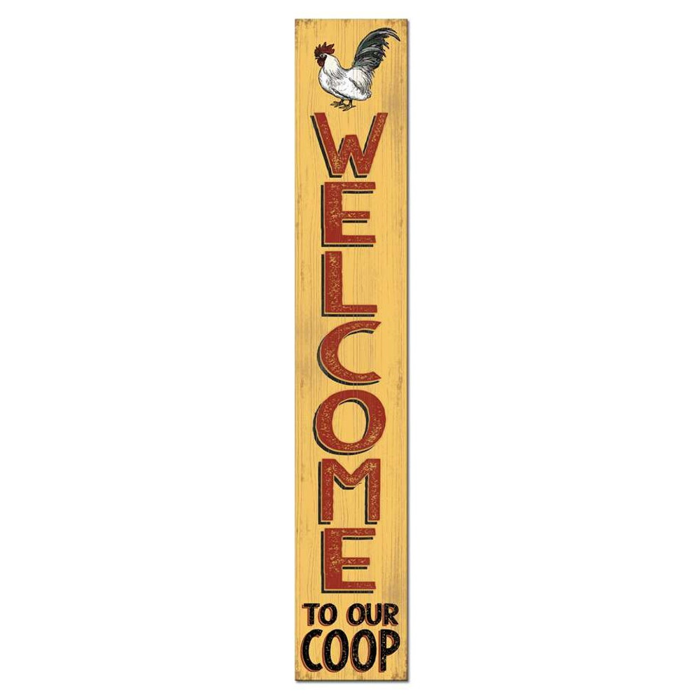 4 Foot Porch Board - Welcome to our Coop