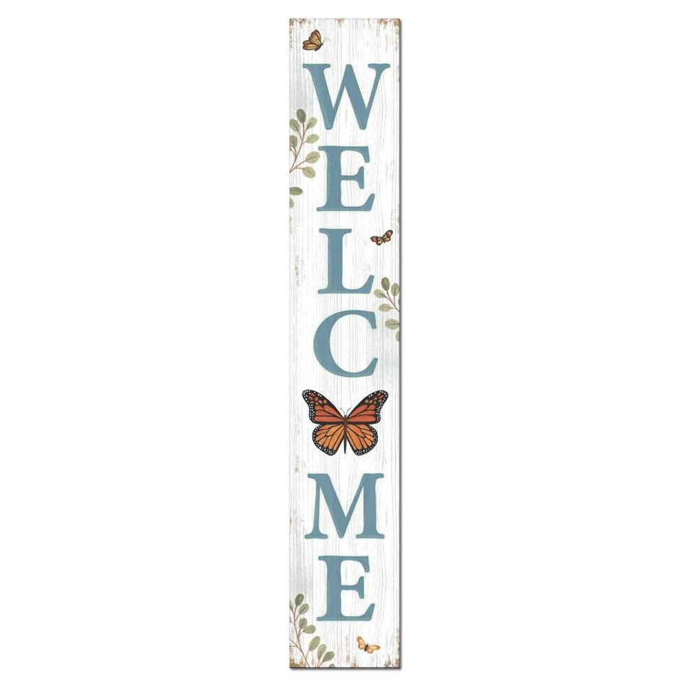 4 Foot Porch Board - Welcome Monarch Butterfly