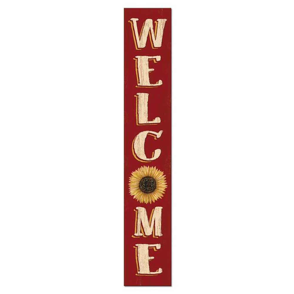 4 Foot Porch Board - Welcome Sunflower