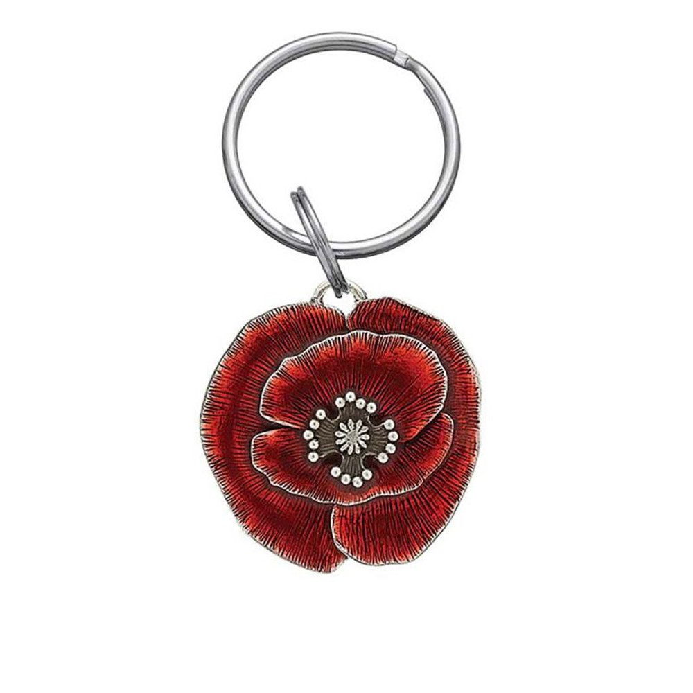 Remembrance Poppy Pewter Keyring