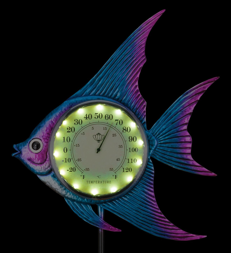 Thermometer Solar Stake - Fish