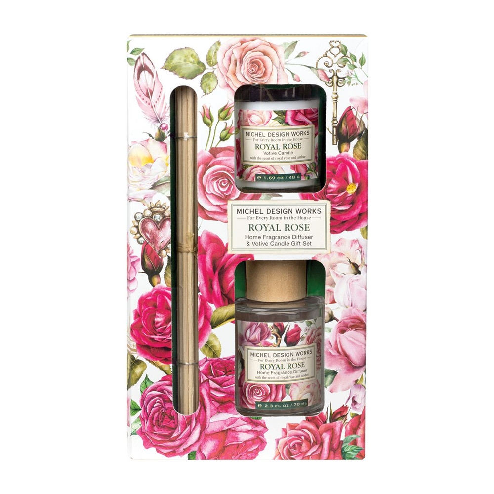 Royal Rose Home Fragrance Diffuser and Candle