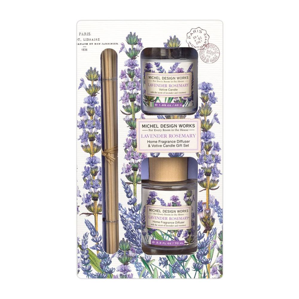 Lavender Rosemary Home Fragrance Diffuser and Candle