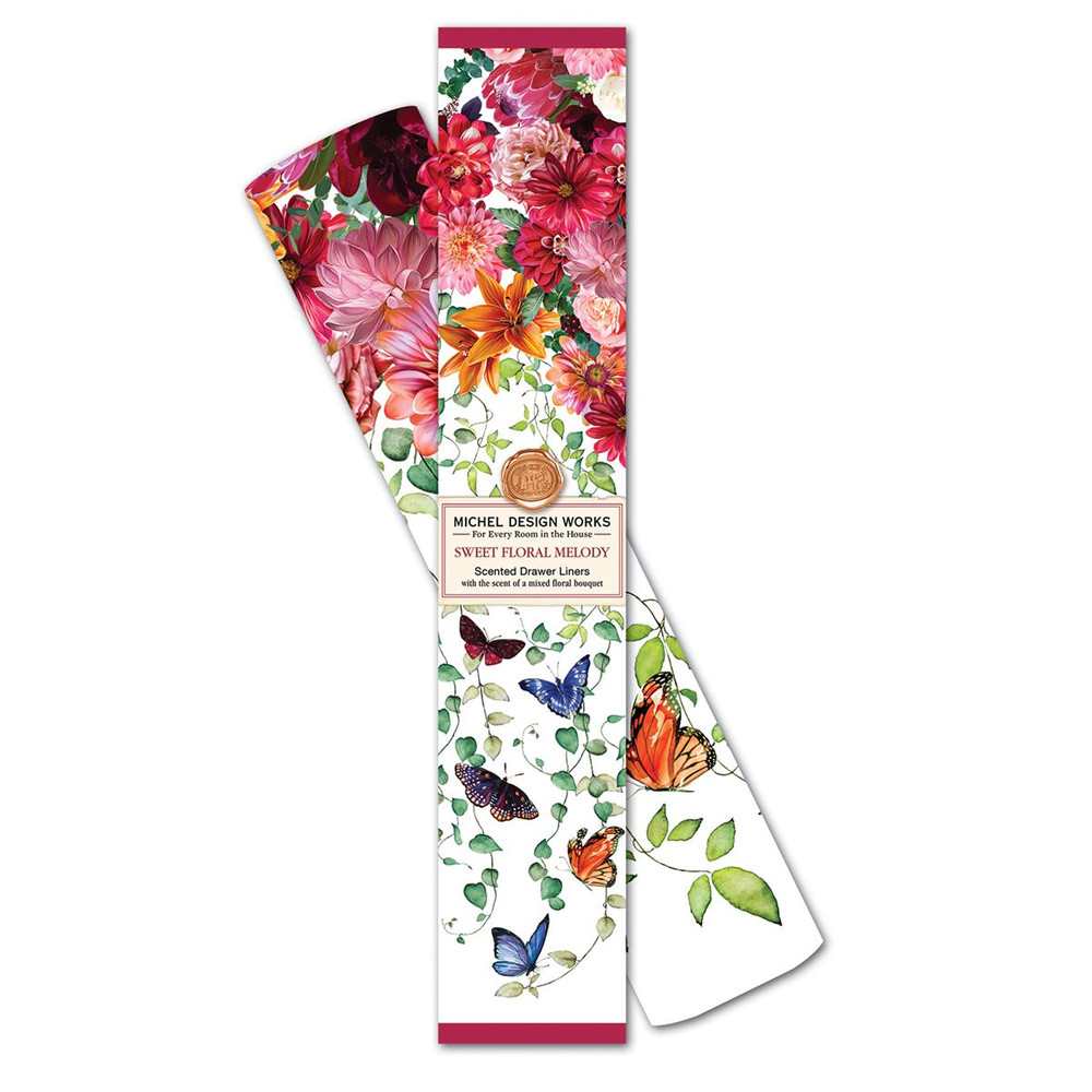 Sweet Floral Melody Drawer Liners