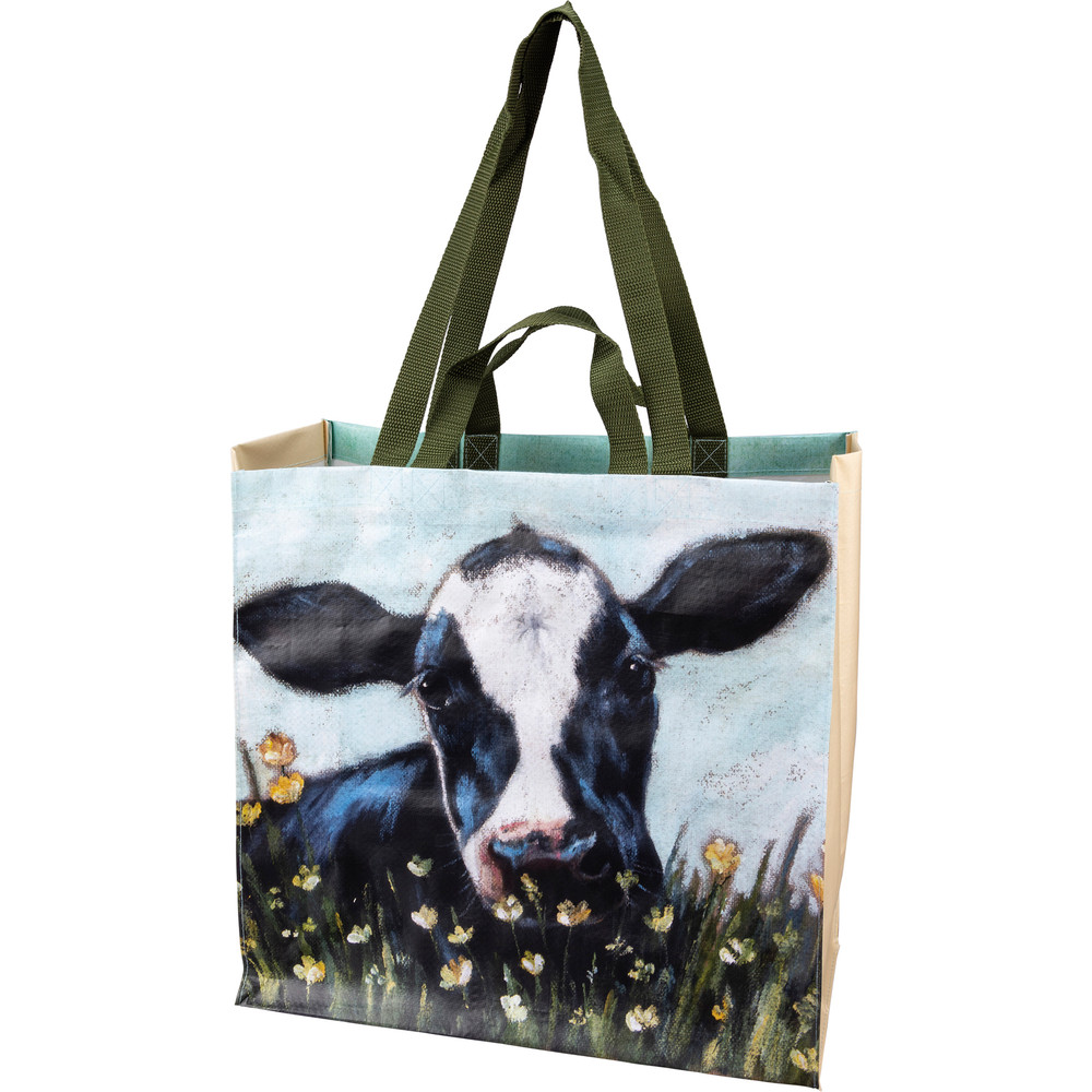 Market tote, cow side