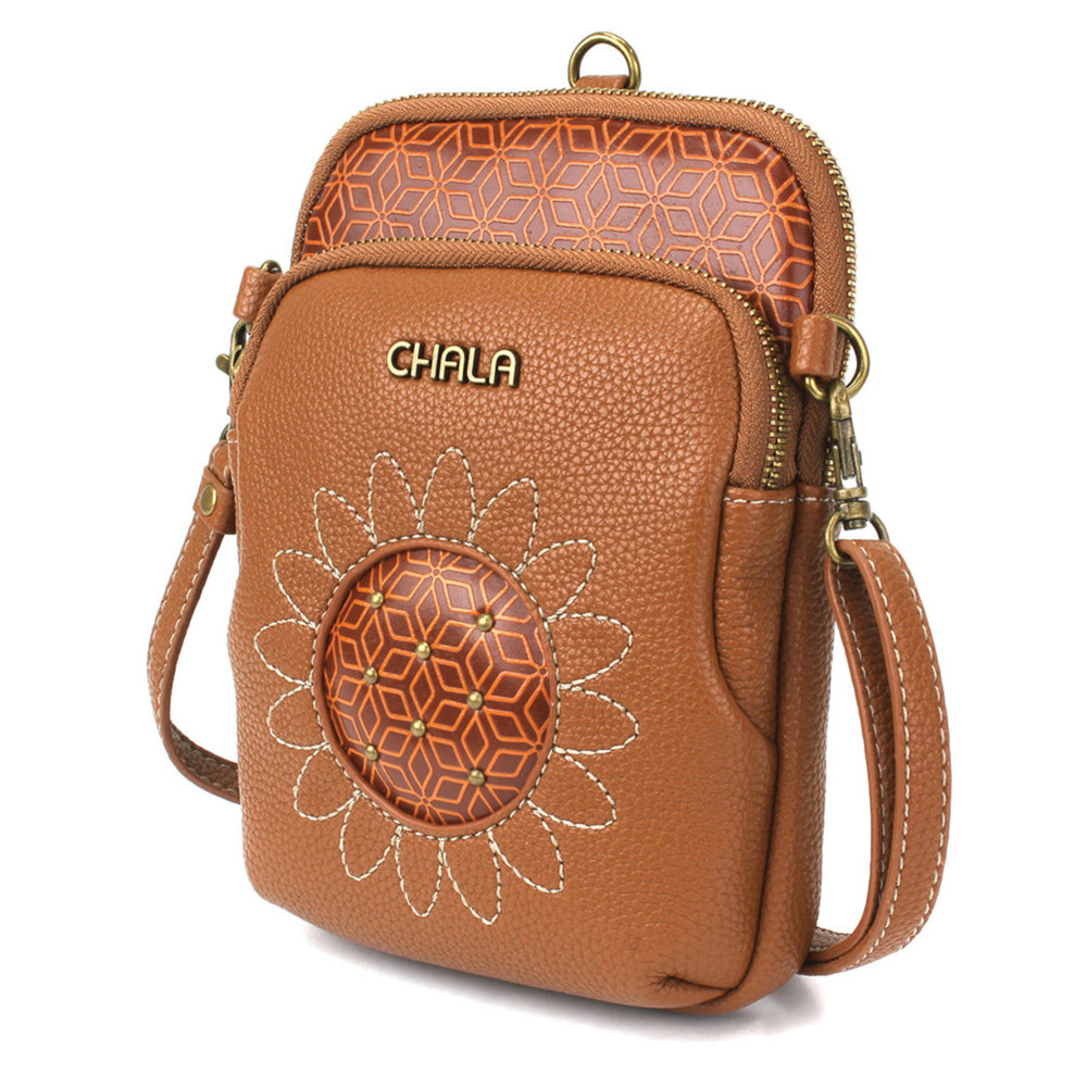 Cell Phone Xbody - Sunflower - Brown