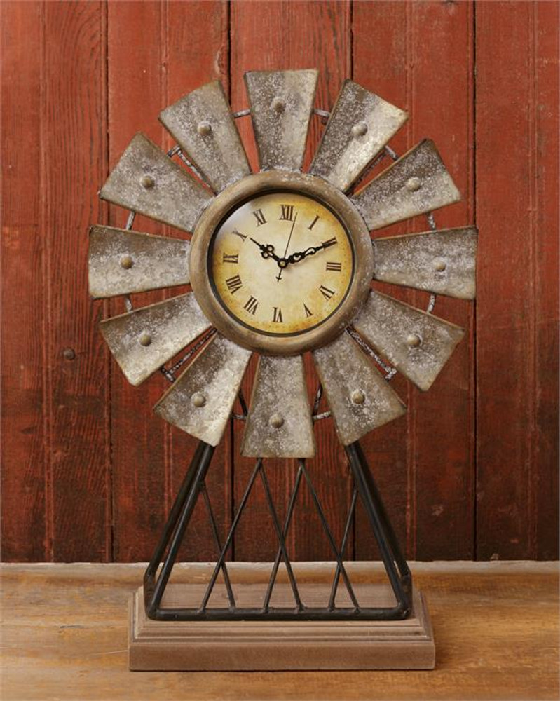 Windmill clock with base