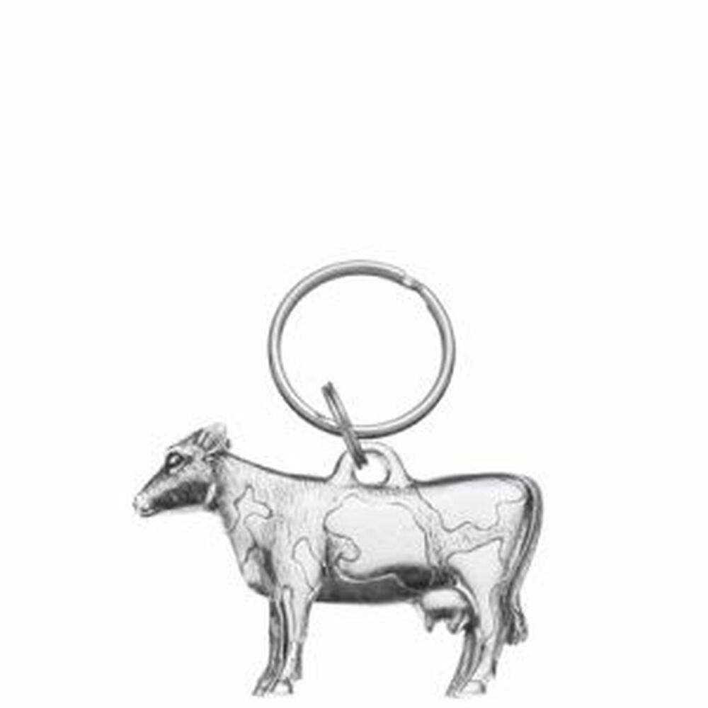 Pewter cow key ring