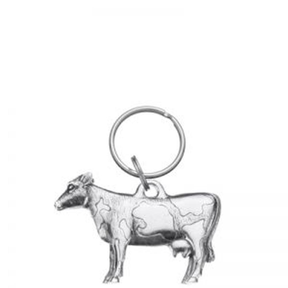 Pewter cow key ring