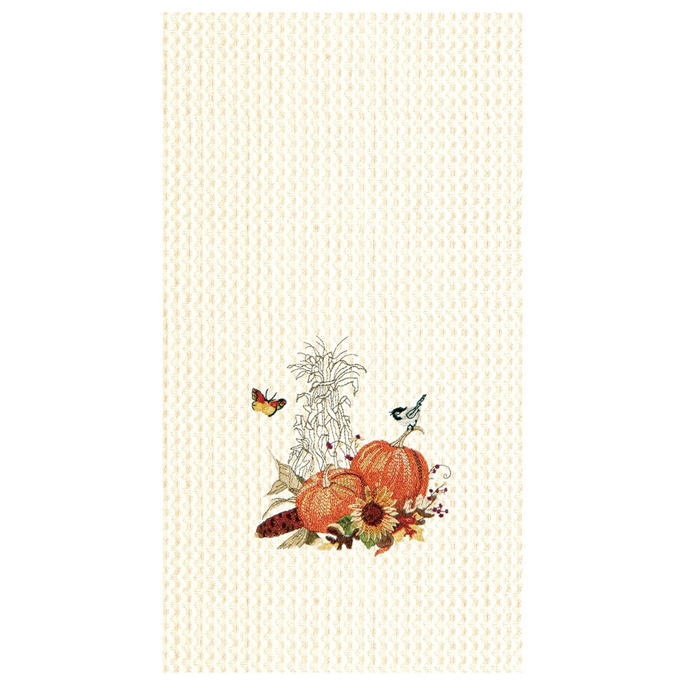 Dish towel decorated for Fall