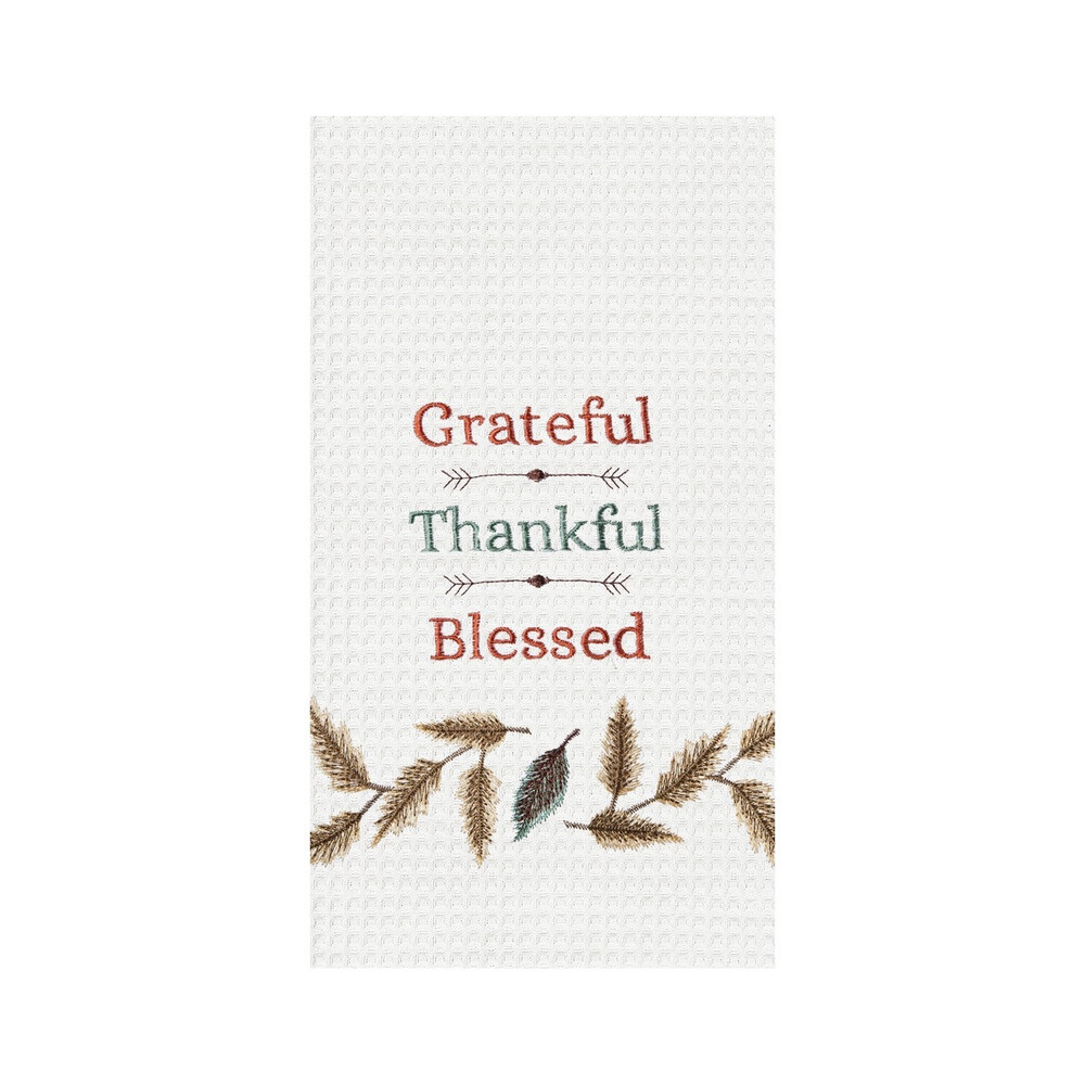"""Grateful, Thankful, Blessed"" Kitchen Towel"