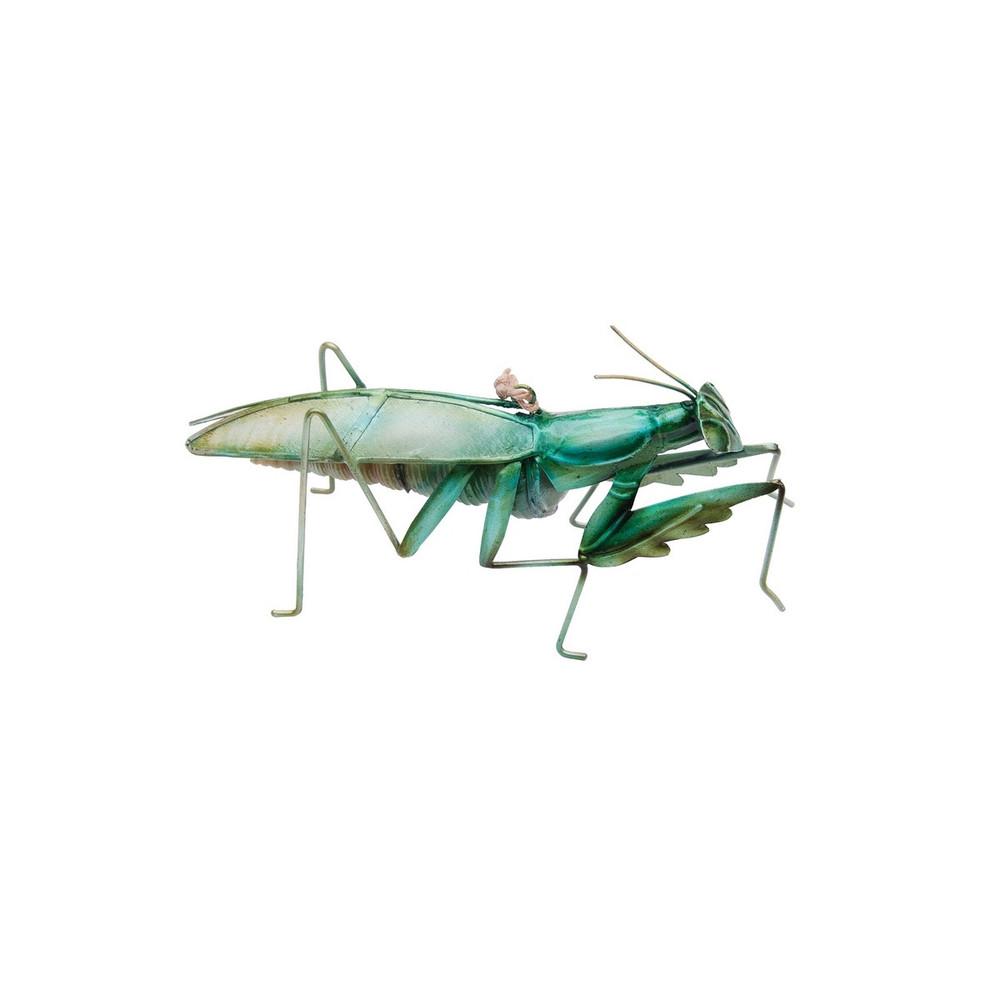 Praying mantis made of seashells, Christmas tree ornament