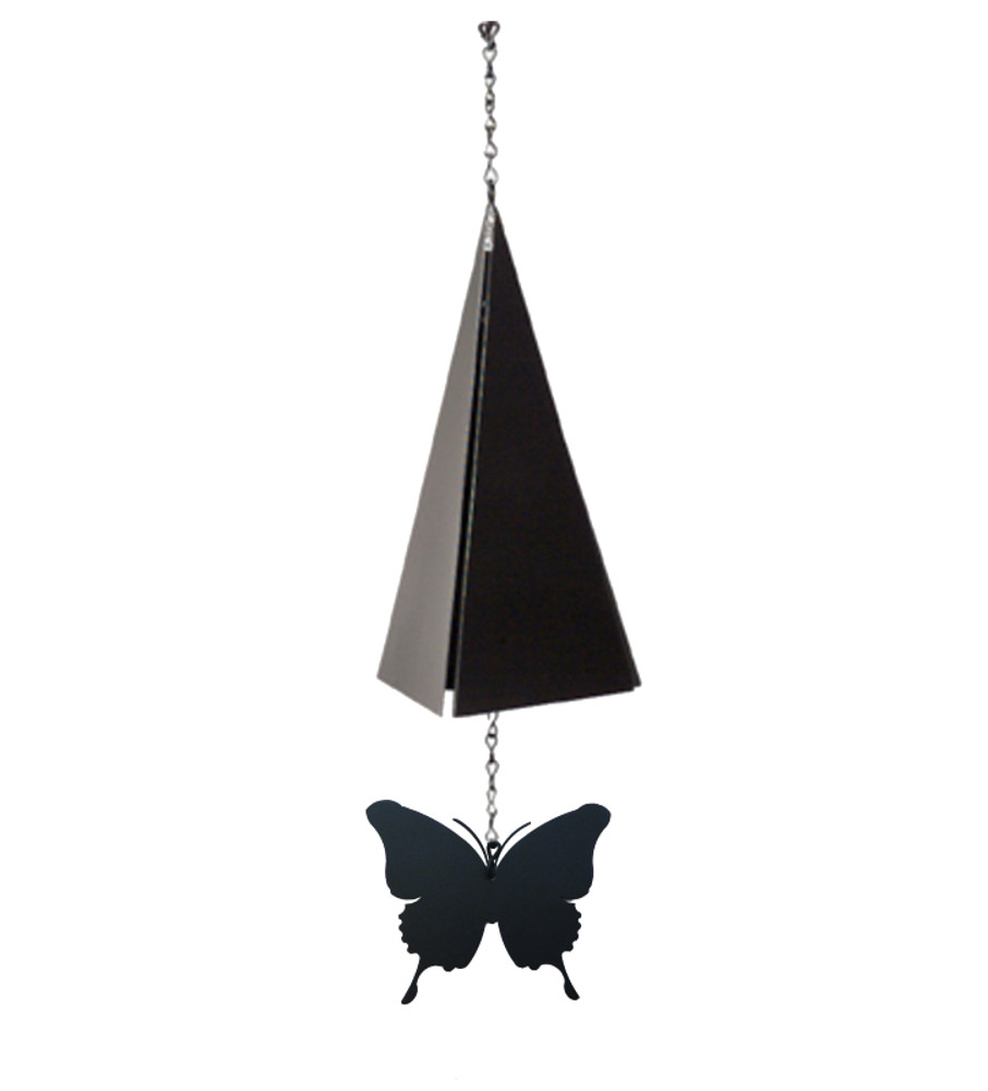 Hand made steel windcatcher with butterfly