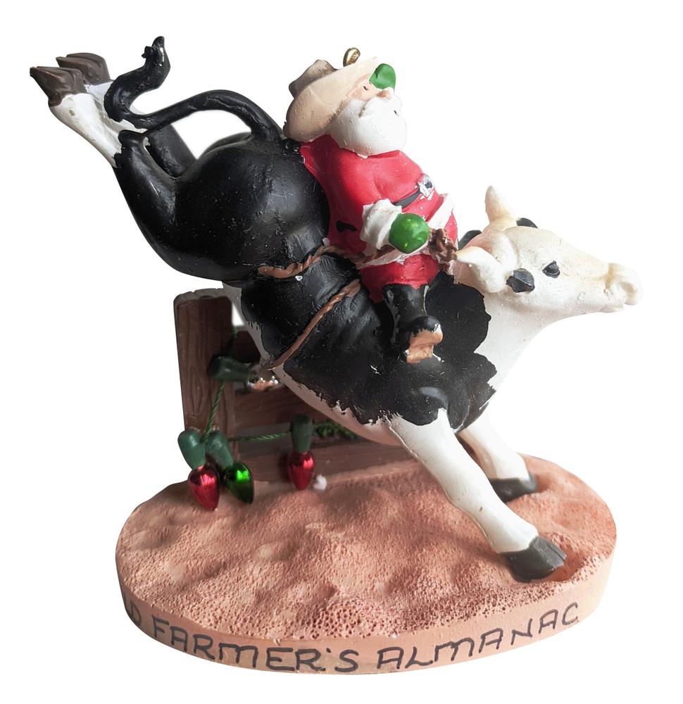 Ornament - Almanac Santa on Rodeo Bull