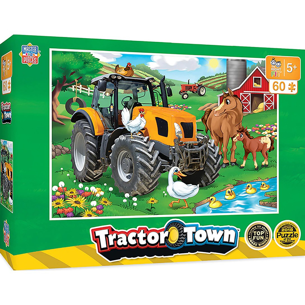 60 piece kids puzzle for kids over 5 years old, Big Tractor picture