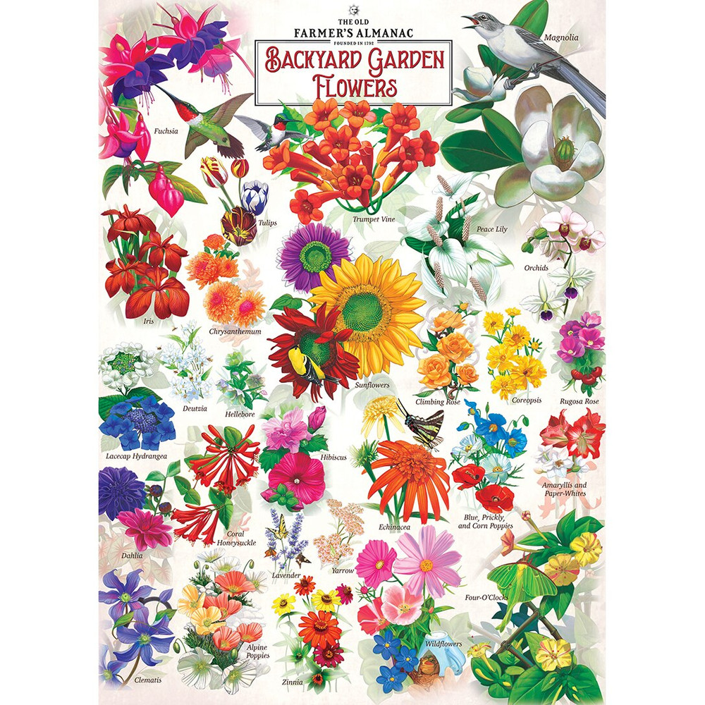 The Old Farmer's Almanac - Garden Florals 1000pc Puzzle