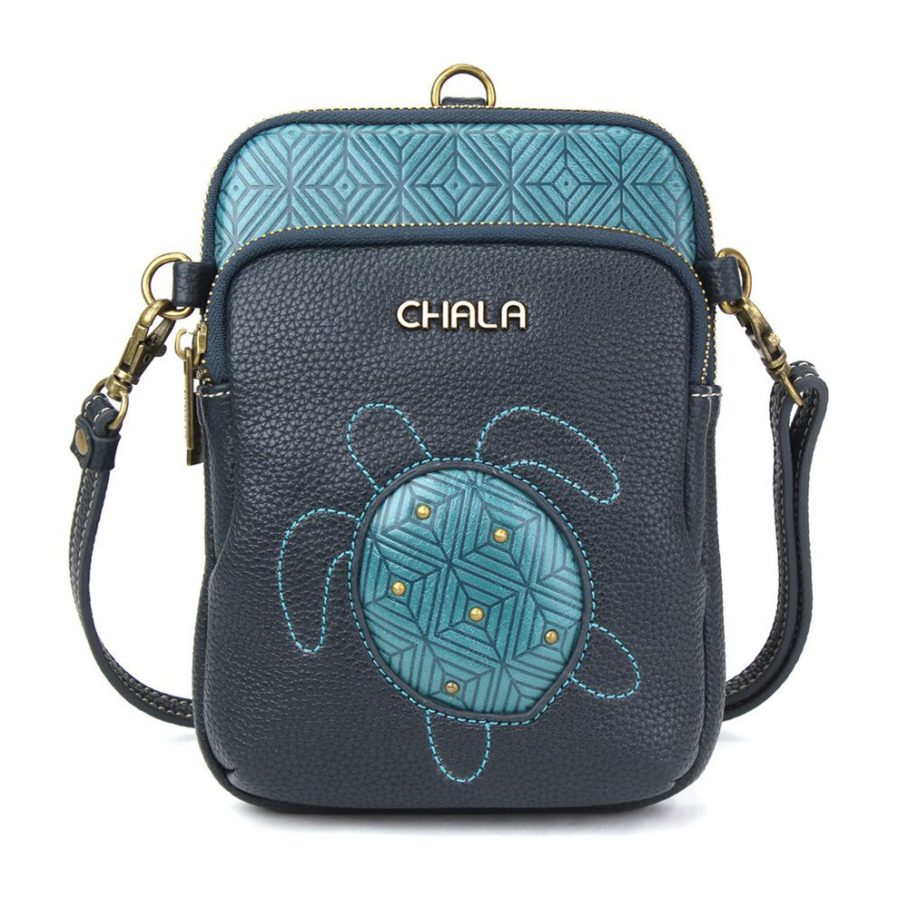 Cell Phone purse - xbody - turtle - turquoise
