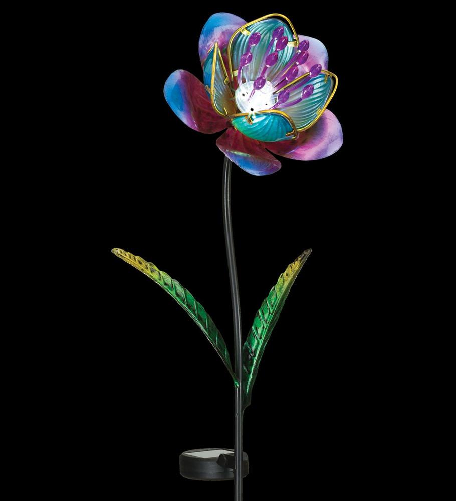 Mystic Flower Solar Stake - Purple
