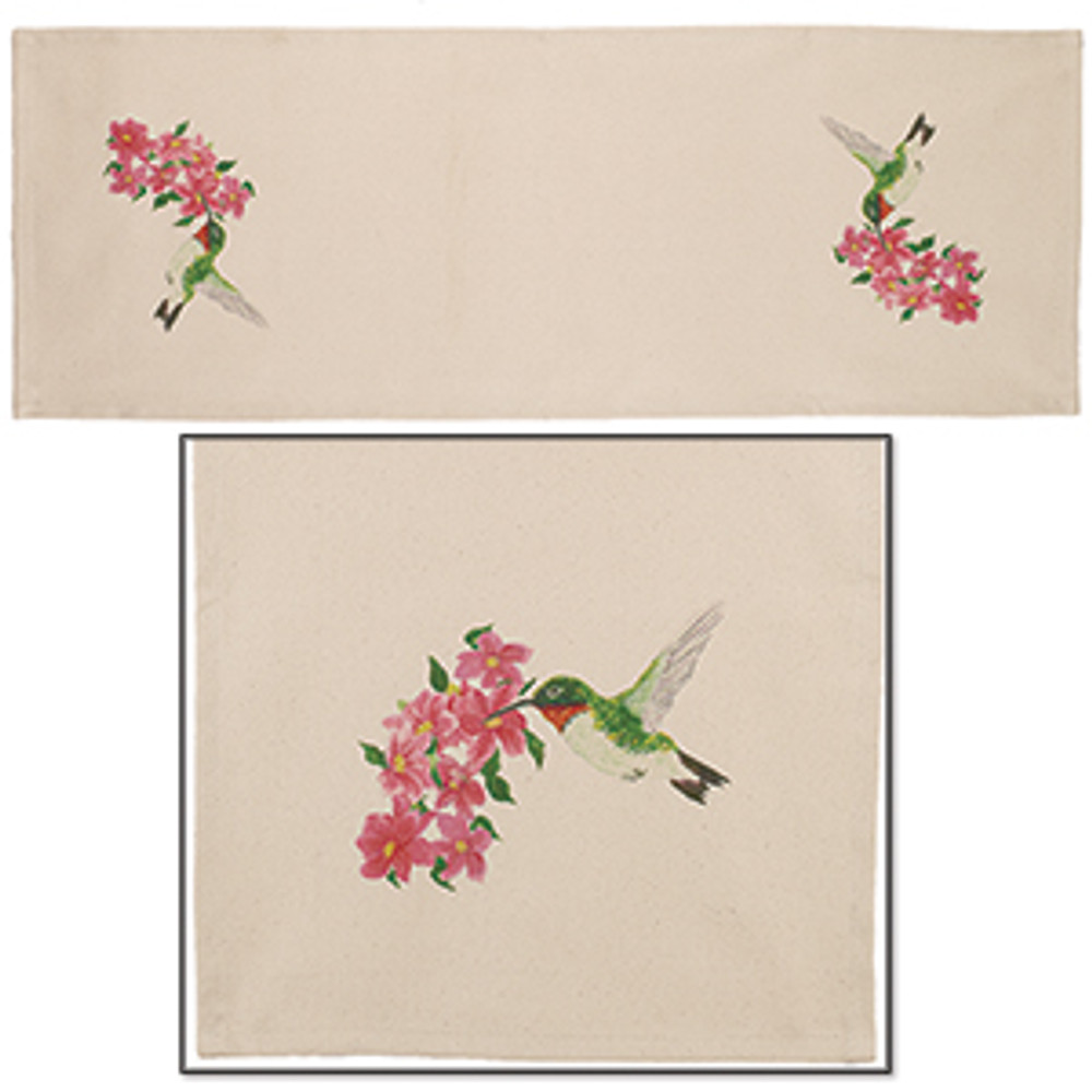 Table Runner - Hummingbird/Flowers
