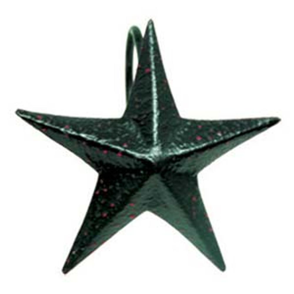 Shower Curtain Hooks - Black Star