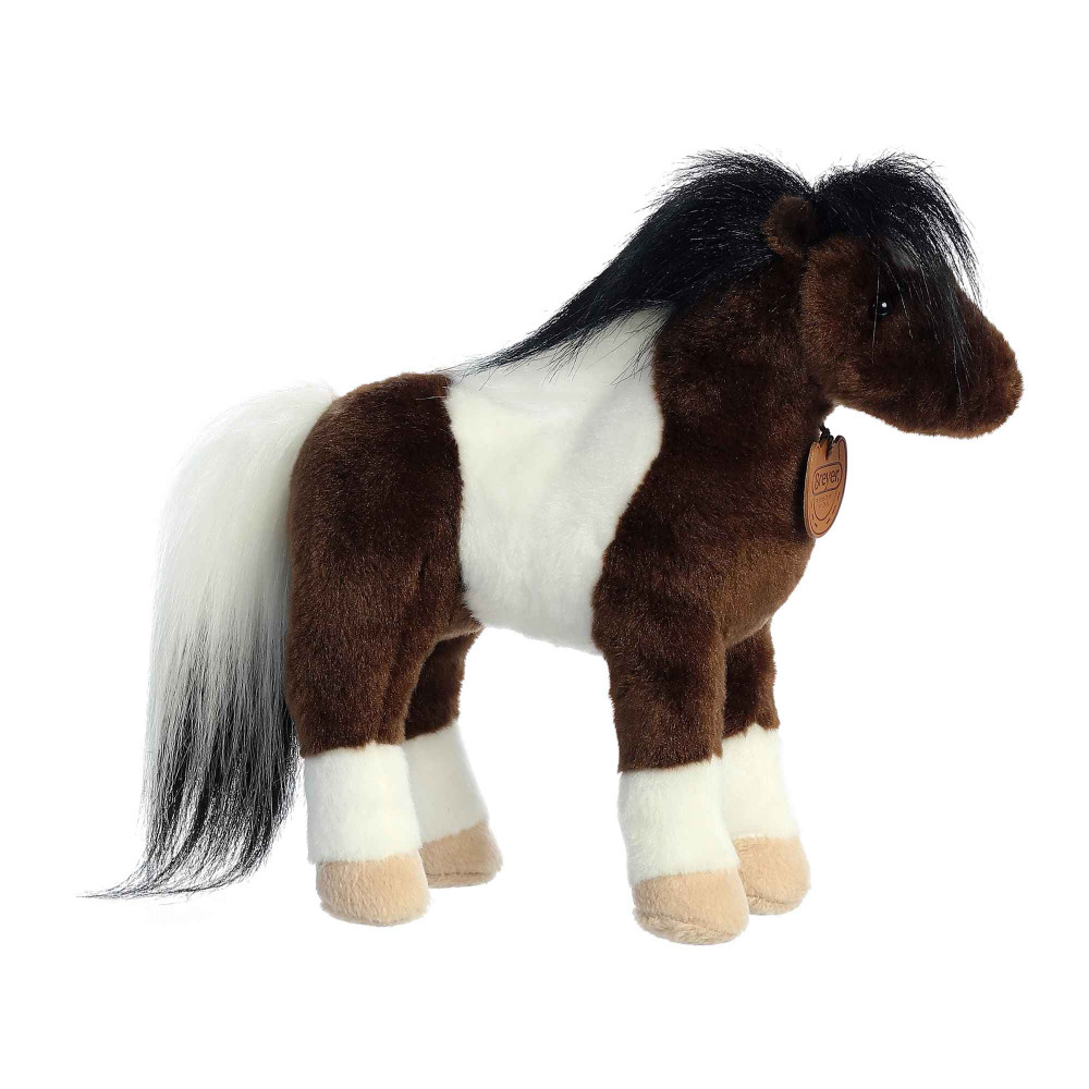 painted horse plush toy left side view