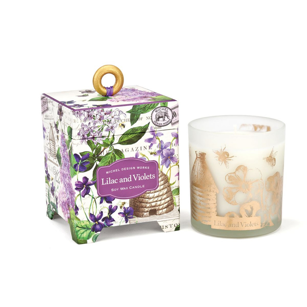 Lilac and Violets 6.5 oz. Soy Wax Candle