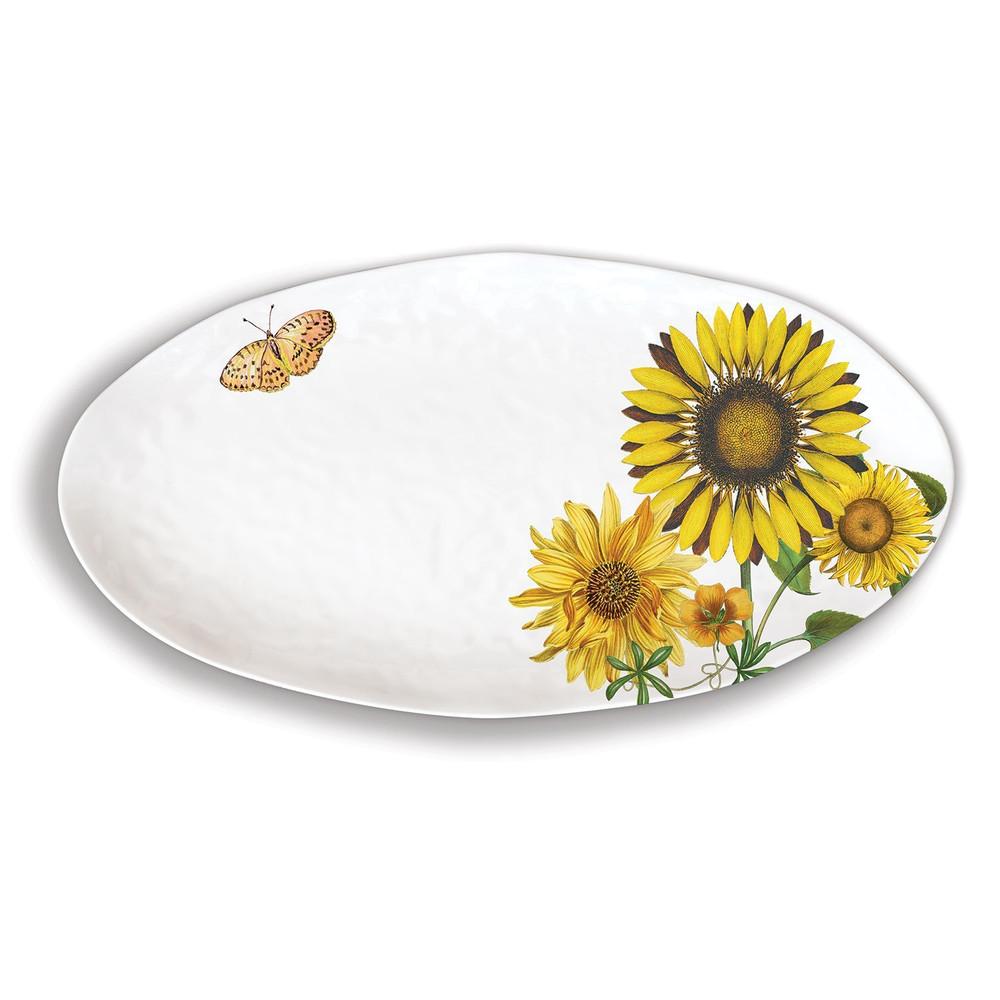 Sunflower Melamine Serveware Oval Platter