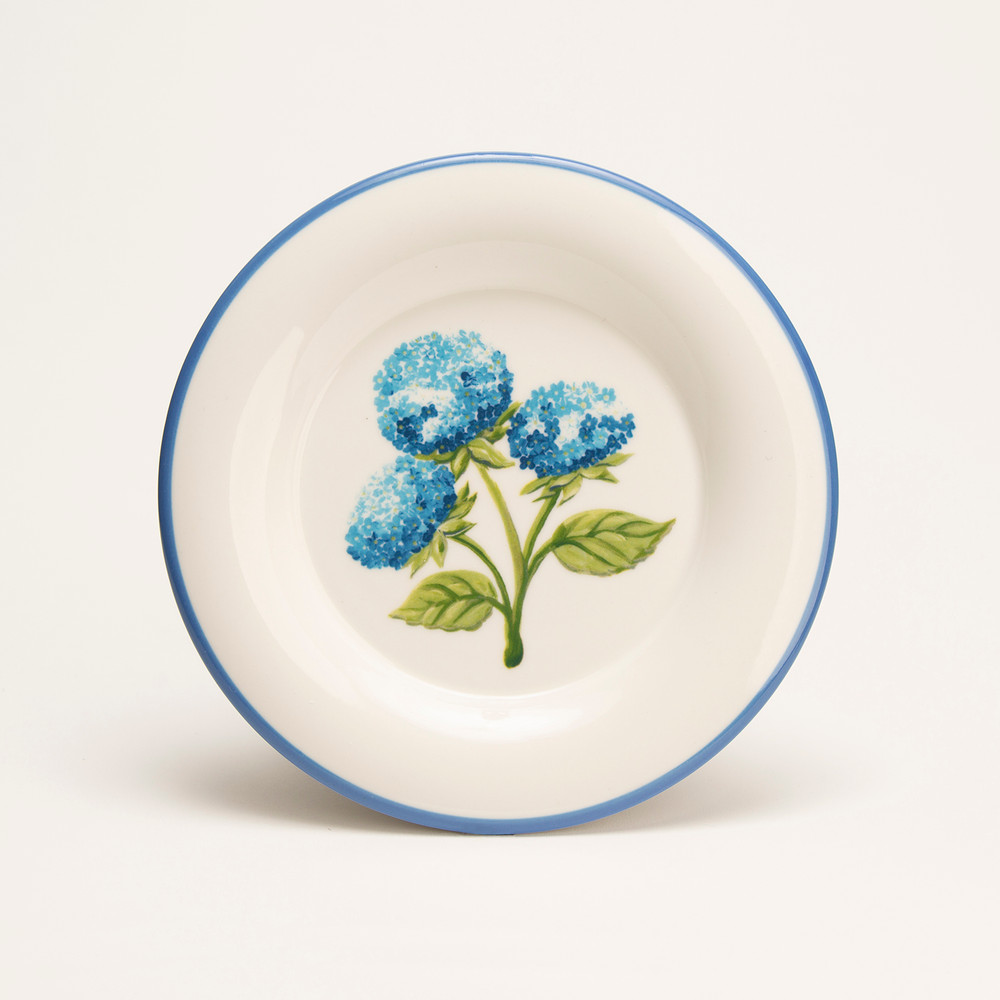 Hydrangea 7.5″ Round Plate